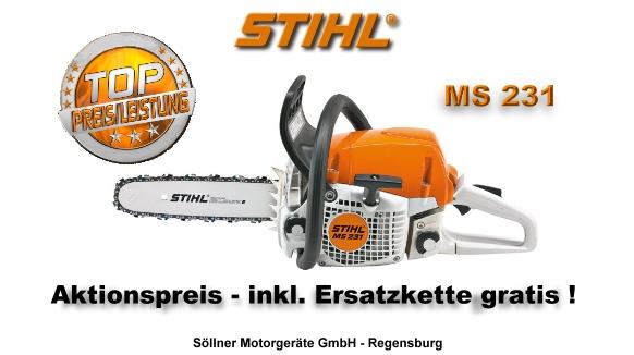 Stihl ms 231 30 cm schnittl nge leicht handlich - Stihl ms 231 ...